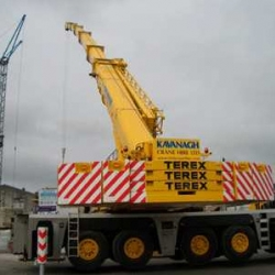 250 ton demag lifting pre-cast slabs in Portlaoise