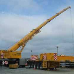 250 demag installing pre-cast units in portarlington