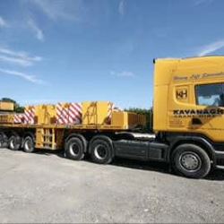 ballast truck and trailer parked at our Wexford depot