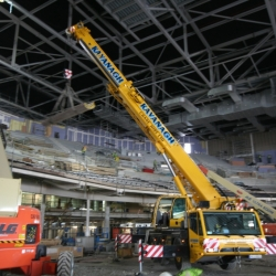 50 ton demag working inside 02 concert venue Dublin