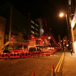 350 ton crane working in Belfast