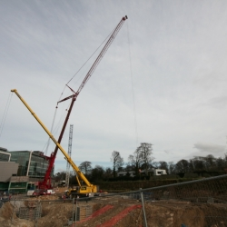 350 ton crane and 80 ton crane erecting crane in Dublin