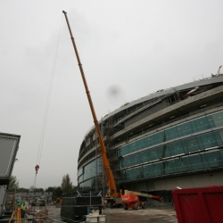 2 of our 80 ton demag cranes working on the new Aviva stadium