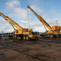 300 ton grove and 350 ton demag