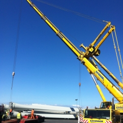 Wind Turbine Construction Crane Hore