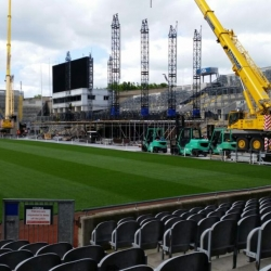 2 cranes recently working in croke park Dublin